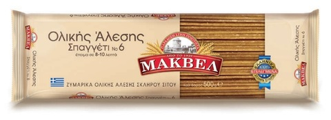 Спагетти №6 грубого помола MAKVEL 500 гр.