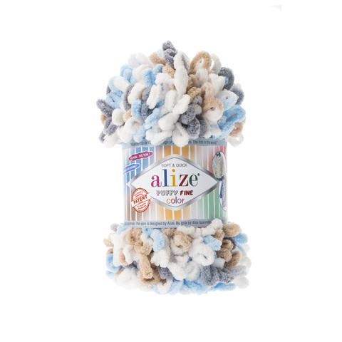 Купить Пряжа Ализе Пуффи Файн Колор Код цвета 5946 | Интернет-магазин пряжи «Пряха»