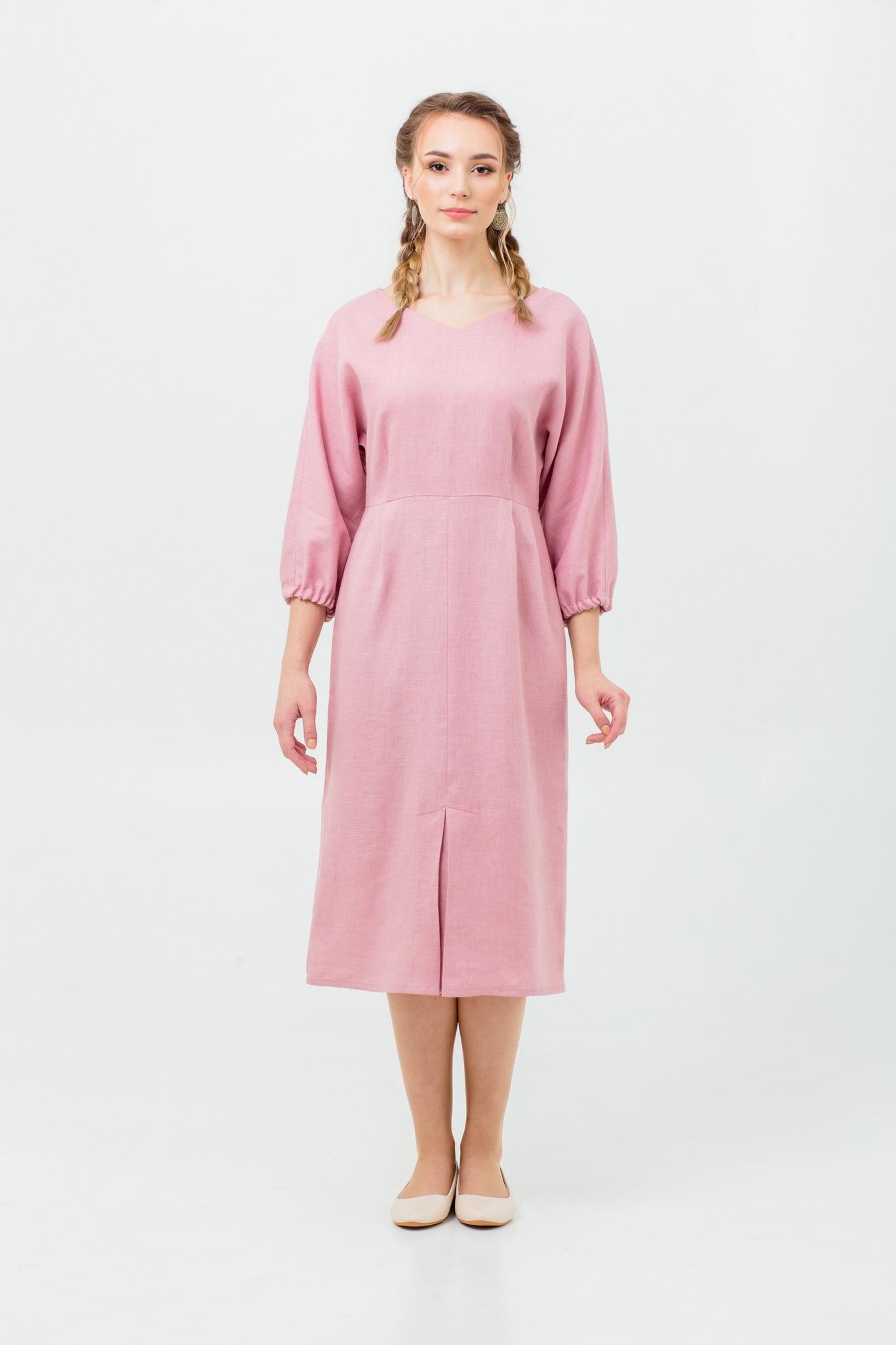 Платье льняное Нежный румянец