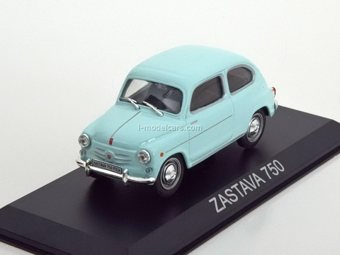 Zastava 750 light blue 1:43 DeAgostini Masini de legenda #54