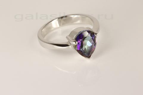 Кольцо с мистик кварцем из серебра 925