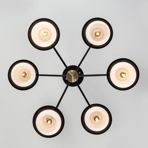 Потолочная люстра в стиле лофт 70106/6 черный