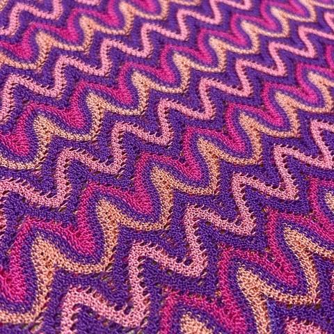 Ткань трикотаж Missoni  цвета фуксии 3137