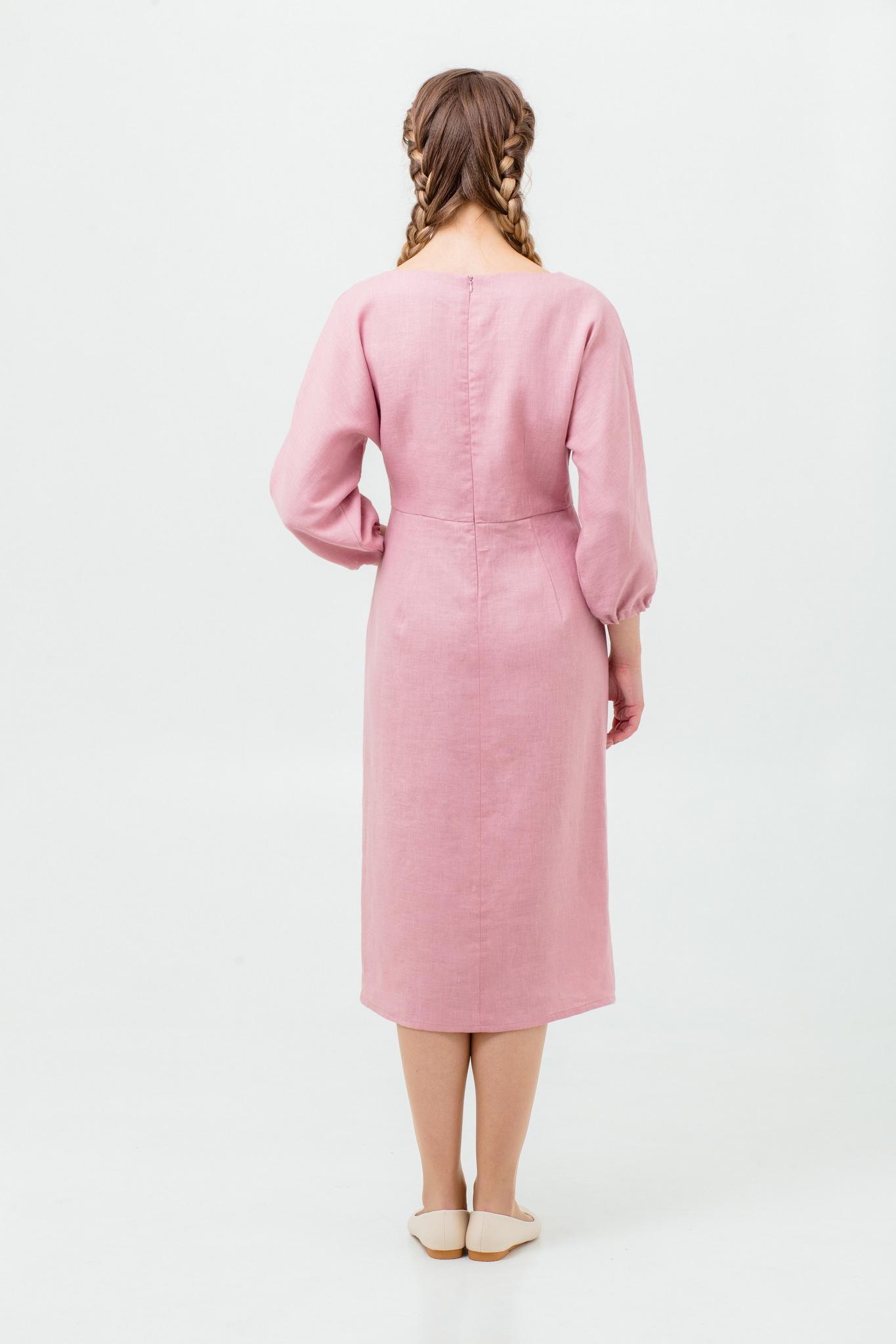 Современное платье в русском стиле Нежный румянец