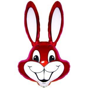 Фольгированный шар Кролик малиновый 100 X 56см