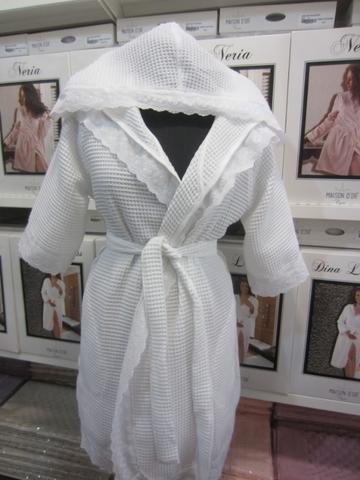 GREEK - ГРЕК женский вафельный  халат  Maison Dor Турция