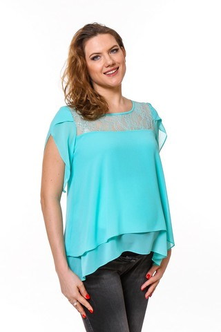 Блузка для беременных 08667 зеленый
