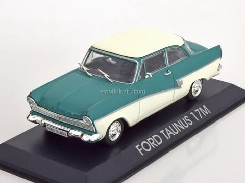 Ford Taunus 17M turquoise-beige 1:43 DeAgostini Masini de legenda #68