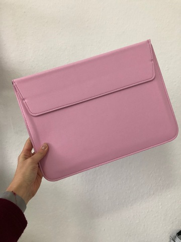 Папка конверт для MacBook PU sleeve bag 15'' /pink/
