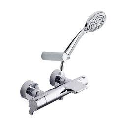 Смеситель термостатический для ванны с каскадным изливом и душевым комплектом BLAUTHERM 943901T3