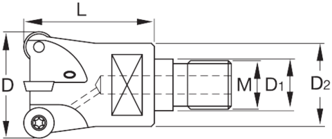 Копирная фреза 7° позитивная с резьбовым хвостовиком