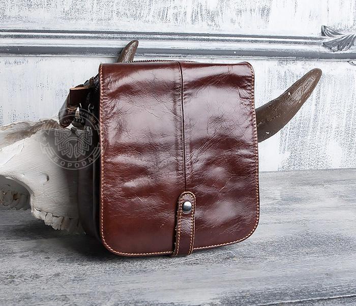 BAG402-2 Мужская городская сумка из натуральной кожи с ремнем на плечо