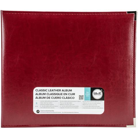 Альбом  на кольцах для Project Life Classic Leather D-Ring Album 30х30 от WeR - экокожа. Wine