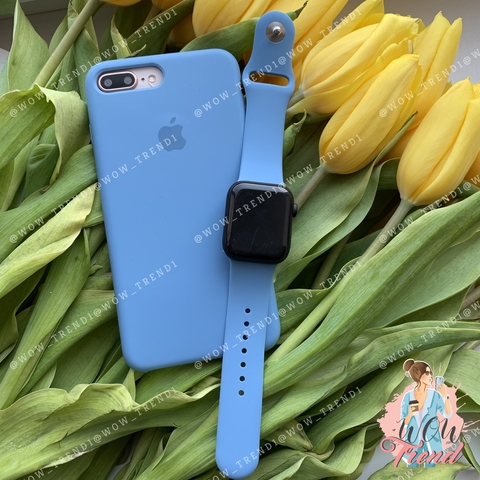 Ремешок Apple watch 42/44mm Sport Band /azure/ джинс