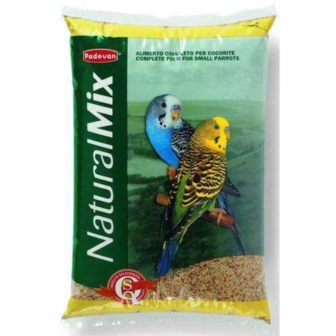 PADOVAN NATURALMIX Cocorite корм для волнистых попугайчиков основной 1 кг