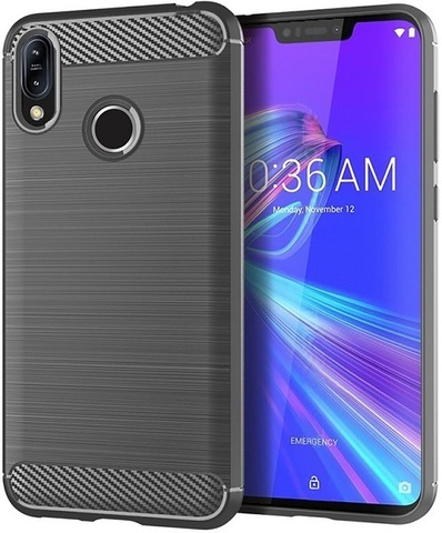 Чехол Asus ZenFone Max M2 цвет Gray (серый), серия Carbon, Caseport
