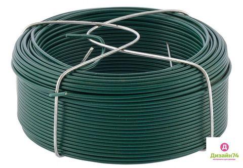 Проволока с ПВХ покрытием, зеленая 1,5мм, длина 50м