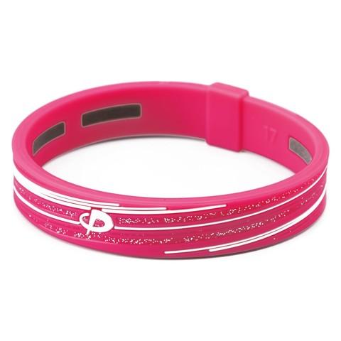 Браслет PHITEN RAKUWA BRACELET S SLASH LINE (розово-белый)