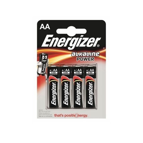 Батарейка Energizer Alcaline Power, тип AА, алкалиновая, 4 шт.