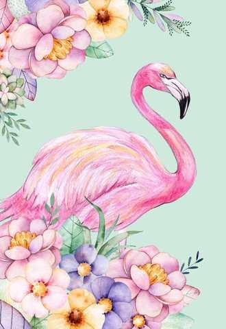 Алмазная Мозаика 30x40 Розовый фламинго