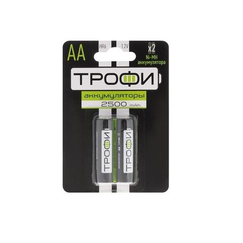 Аккумулятор Трофи, тип АА, Ni-Mh, 2500 mAh, 2 шт.