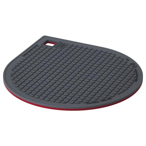 ИКЕА 365+ ГУНСТИГ Подставка под горячее, магнитн красный, темно-серый