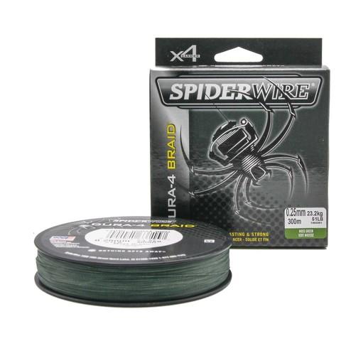 Плетеная леска Spiderwire Dura4 Braid Темно-зеленая 300m 0,25m Mgrn
