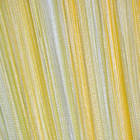 Кисея радуга облегченная белая-желтая. Арт.121