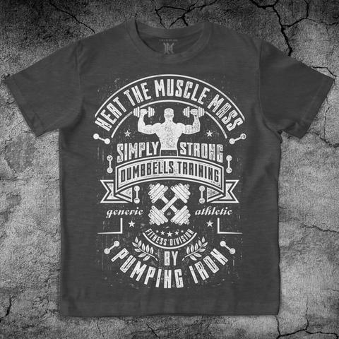 Купить хлопковую футболку Pumping Iron для пауэрлифтинга, для зала, фитнеса, стиль жизни