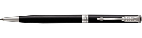 Шариковая ручка Parker Sonnet Slim Lacquer Deep Black CT