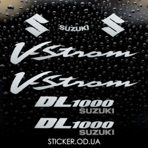 Набор виниловых наклеек на мотоцикл SUZUKI DL1000 V-STROM, 2004-2005.