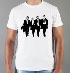 Футболка с принтом Битлз (The Beatles) белая 007