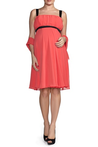 Платье для беременных 06040 красный-черный