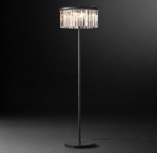 Торшер 1920S Odeon Clear Glass Floor Lamp