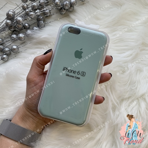 Чехол iPhone 6/6s Silicone Case /mint/ мята 1:1