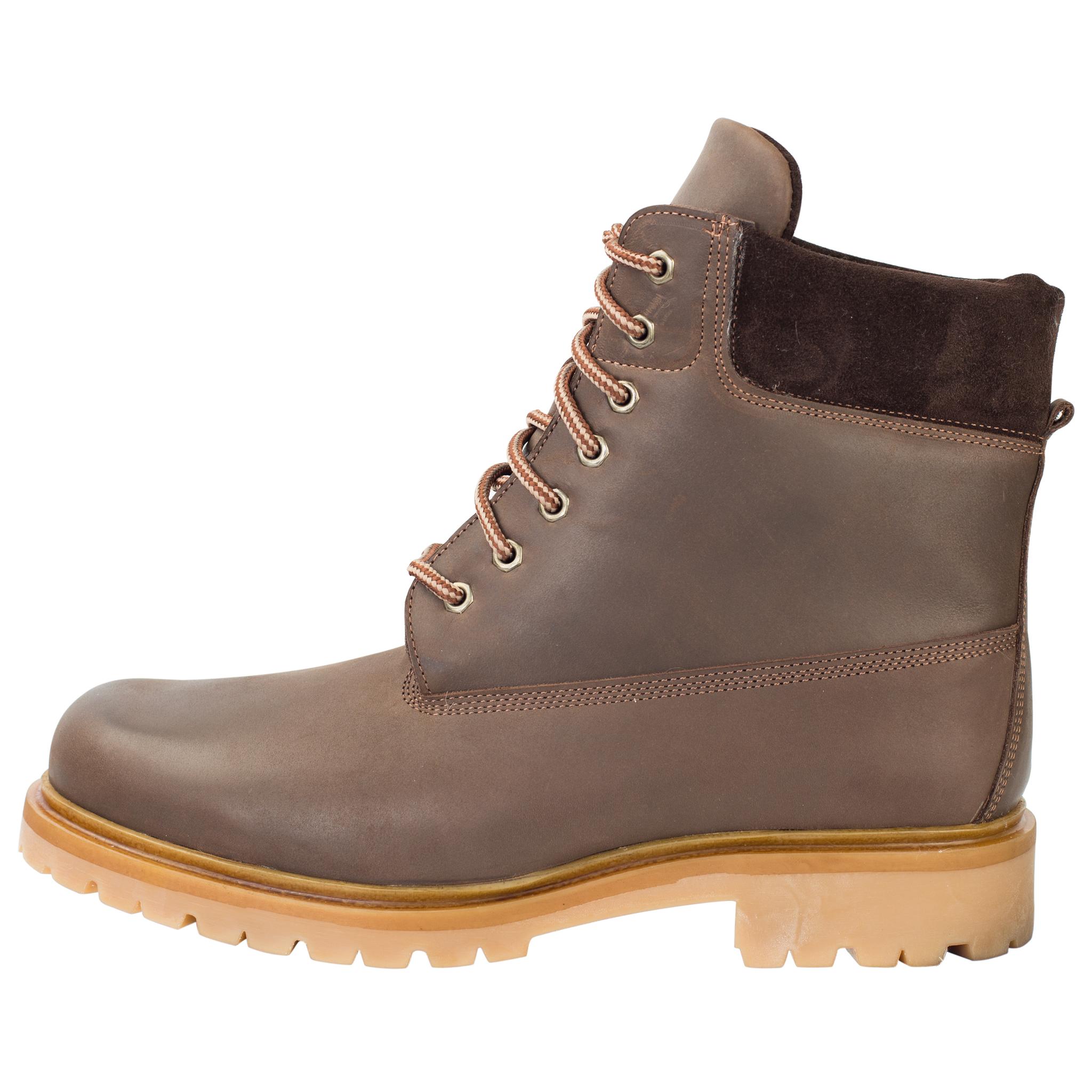 496478 ботинки мужские коричневые нубук больших размеров марки Делфино