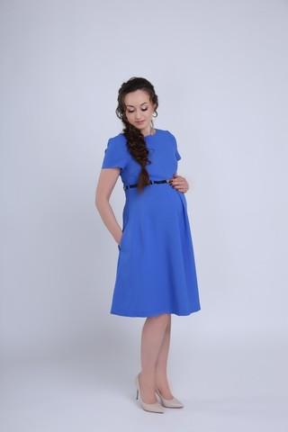 Платье для беременных и кормящих 09273 синий