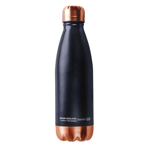 Термос-бутылка Asobu Central park черная/медная