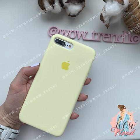 Чехол iPhone 7+/8+ Silicone Case /mellow yellow/ волшебно-желтый 1:1