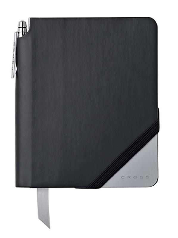 Записная книжка Cross Jot Zone, A6, 160 страниц в линейку, ручка в комплекте. Цвет - черно-серый.