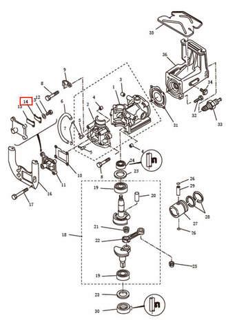 Ограничительная пластина  для лодочного мотора T2,5 SEA-PRO (2-14)
