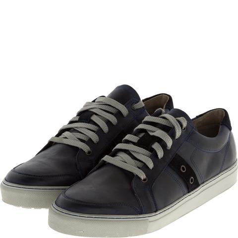 547308 полуботинки мужские синие (кеды). КупиРазмер — обувь больших размеров марки Делфино