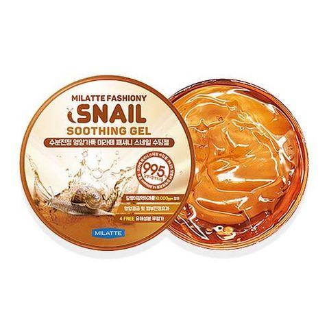 Гель для лица и тела универсальный увлажняющий улиточный Milatte Fashiony Snail Soothing Gel 300 мл