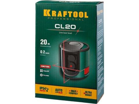 KRAFTOOL CL 20 нивелир лазерный , 20м, IP54, точн. +/-0,2 мм/м