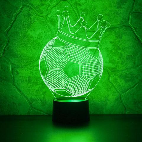 Светильник Футбольный мяч с короной