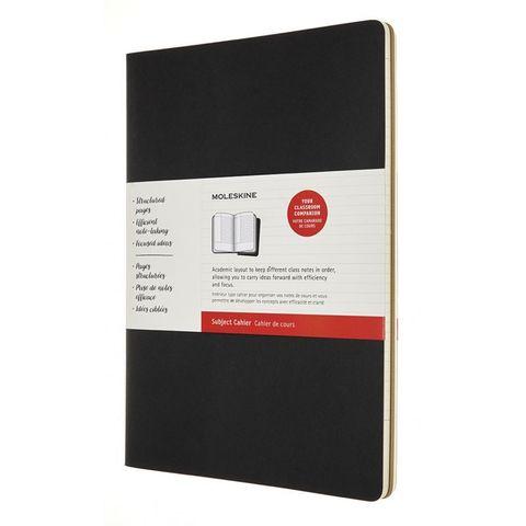 Блокнот Moleskine CAHIER SUBJECT CH5STNB A4 обложка картон 192стр. линейка мягкая обложка черный/бежевый