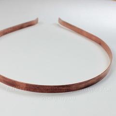 Ободок для волос 7 мм (цвет - античная медь)