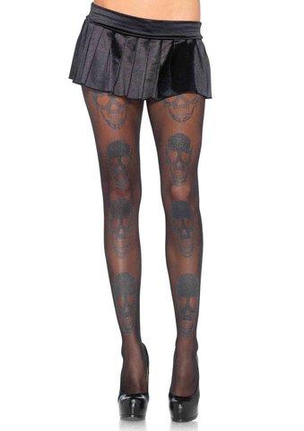 Колготки Shimmer Skull Pantyhose от Leg Avenue