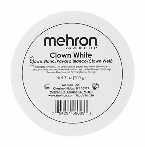 MEHRON Грим для клоуна экстра белый Clown White Large, 200 г