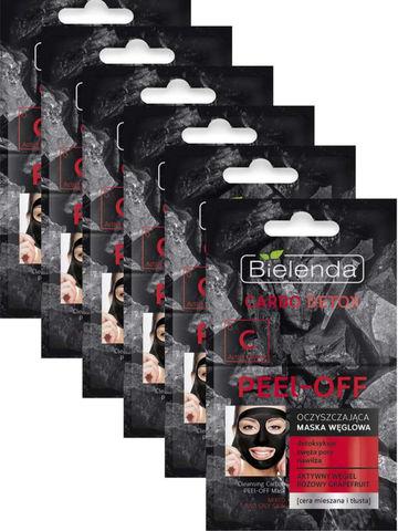 Очищающие угольные маски PEEL-OFF, CARBO DETOX